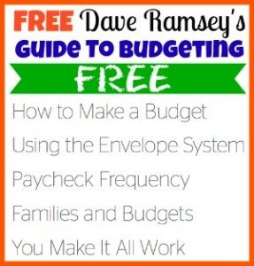 Dave Ramsey Budget Kit: FREE Download