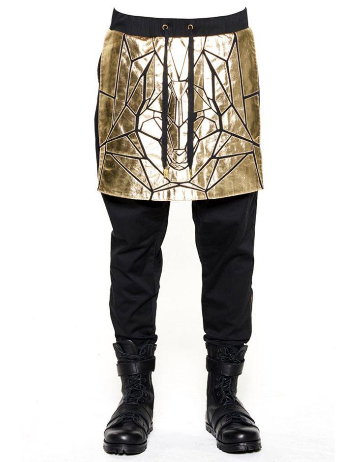 SKINGRAFT Wolf Panel Pants Gold