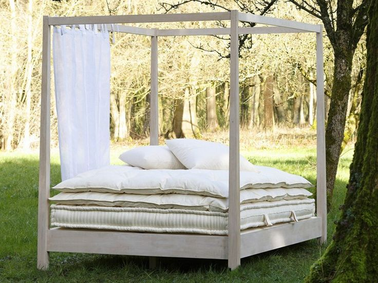 Letto da giardino matrimoniale a baldacchino Collezione Outdoor by Le Lit National