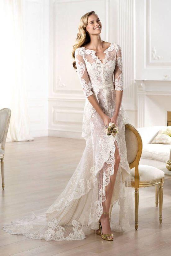 # 3 Pronovias boheme lace wedding dress 2015 Pronovias boheme blonde brudekjole 2015