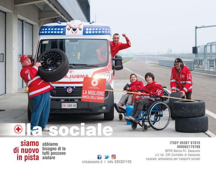 La Sociale - siamo di nuovo in pista Campagna raccolta fondi 2016/2017 della CRI di Sassuolo per l'acquisto di un'ambulanza attrezzata al trasporto sociale. Foto di Luigi Ottani Grafica Morena Luppi