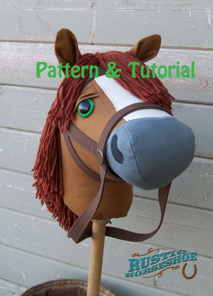 Rustic Horseshoe's Mustang Collection Basic Stick Horse and Pony Pattern and Tutorial by RusticHorseShoe on Etsy
