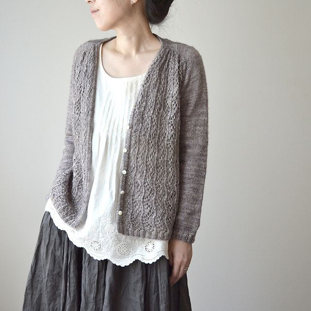 Ravelry: roko's Ivy Line (test) ~~ Love everything -- cardi, blouse and skirt!