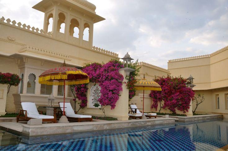 Hotel deslumbrante no Rajastão, Índia.