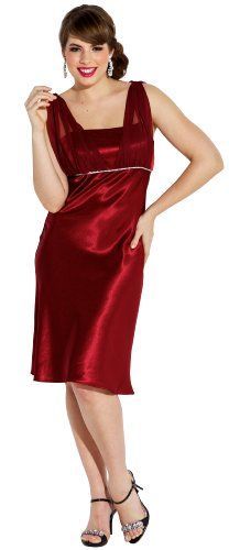 PacificPlex offer the best Satin Chiffon Prom Dress Holiday Formal Gown Crystals Full Length Junior Plus Size, Large, Red. This awesome product currently in stocks.