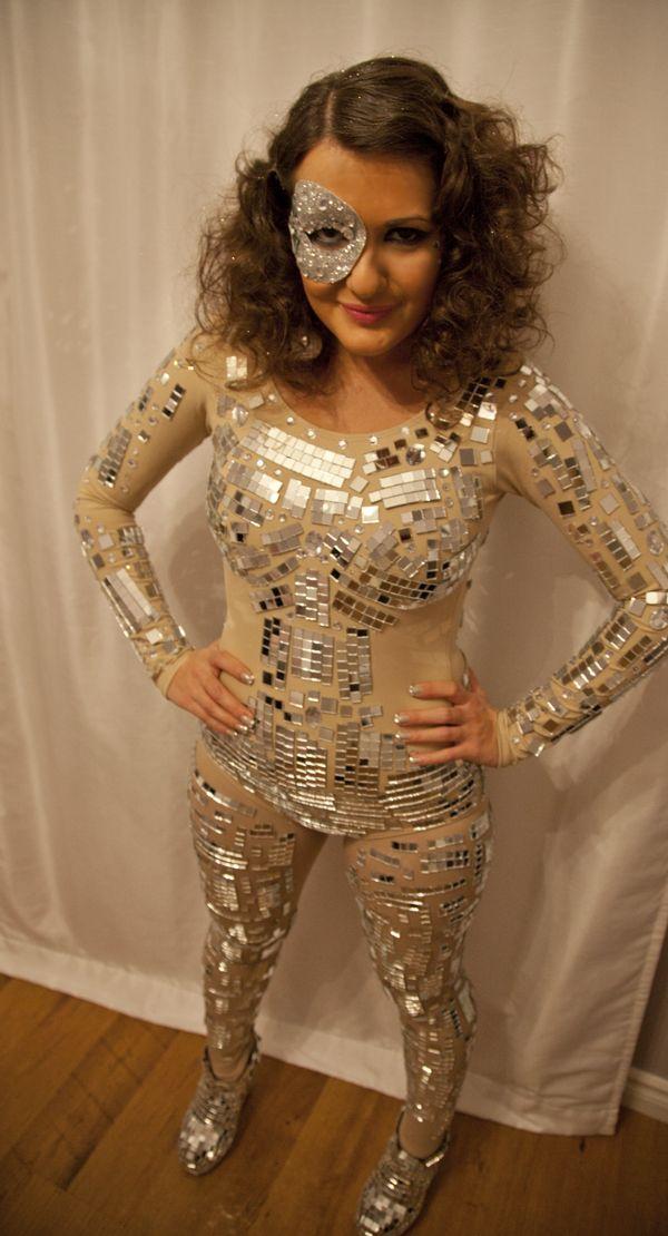 how to make a disco ball costume