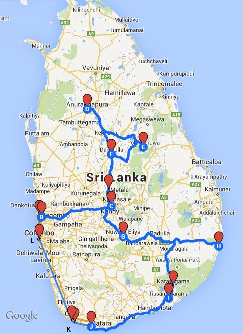Sri Lanka itinerary                                                                                                                                                                                 More