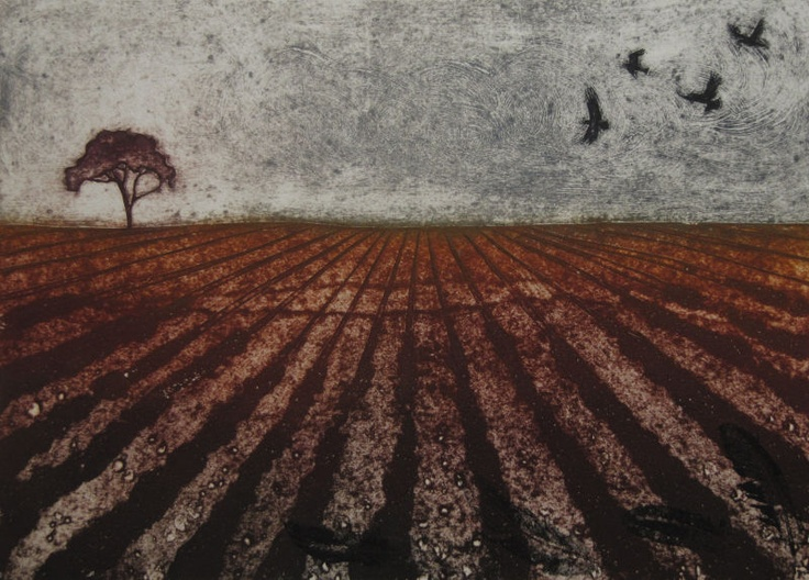 Collagraph print by Hester Cox