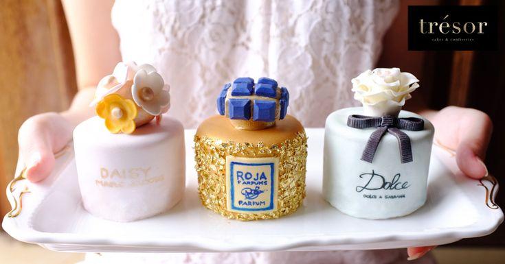 Mini perfume inspired cake Marc Jacobs Daisy, Roja Dove Haute Luxe Parfum Dolce & Gabbana Dolce