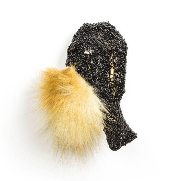 "Vincent Pontillo-Verrastro ""Pfoufe 6"", 2015 PLA plastic, recycled fox fur, steel"