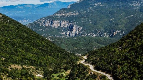 Road in Zagoria region, northwestern Greece