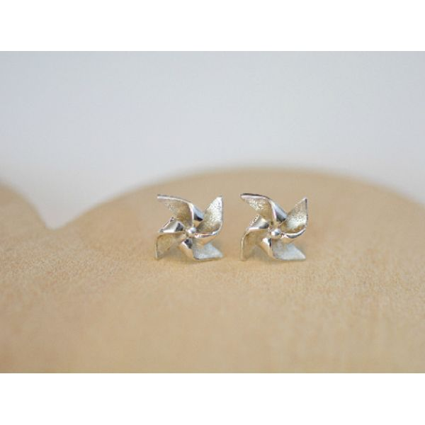 Sterling silver pinwheel studs now available from www.thislittlemarket.co.za
