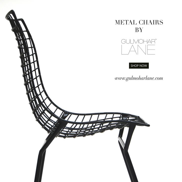 ROSSO METAL CHAIR  The Rosso Wire Chair is a magnificent wire embellished chair that can be used for dining chair or accent chairs. It adds an artistic level to any home, apartment or office and features a solid iron and a beautiful coordinated cushion for the comfort. Choose the cushion by mixing and matching to create your own style.  Shop Now: http://www.gulmoharlane.com/products/rosso-metal-chair-set-of-2-black