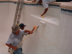 Roll-On Swimming Pool Plaster, Plaster Resurfacing and Decorative Deck Coatings - Sider-Crete, Inc.