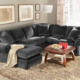 Wholehome md 39 belleville iv 39 3 piece sectional in a left for Sofa bed heaven