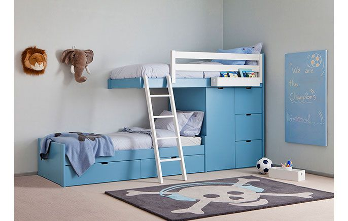 20 smarte senge der sparer plads på børneværelset