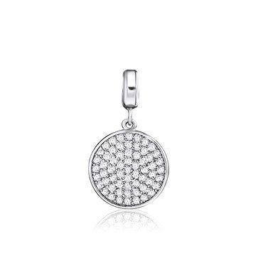 PENDANT KAGI COSMOS SMALL RHODIUM PLATED PAVE CLEAR CUBIC ZIRCONIA SET STAINLESS STEEL CLIP - Jons Family Jewellers
