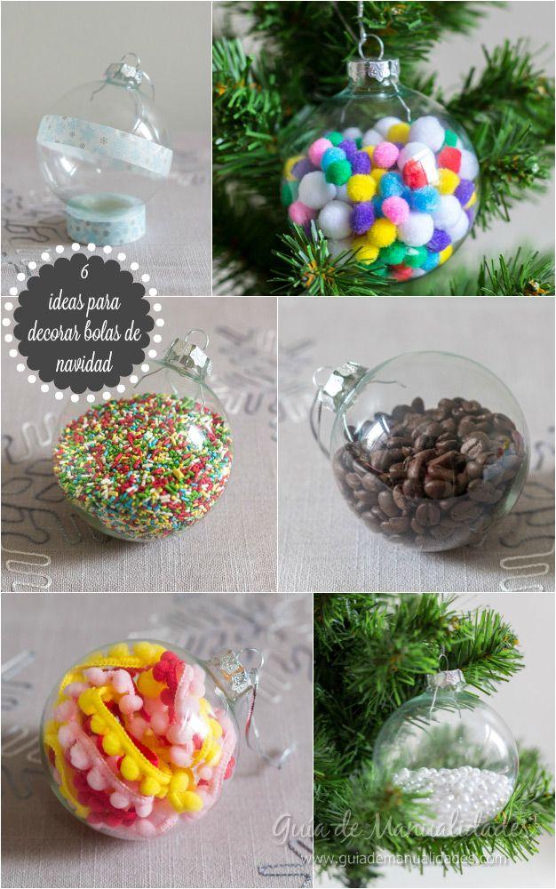 6 ideas para decorar bolas de navidad manualidades for Manualidades para adornos navidenos