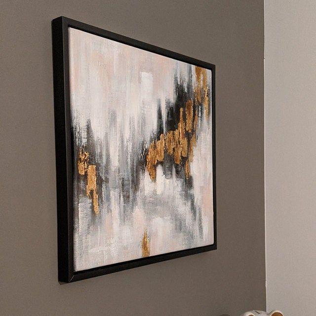 gold leaf art modern abstract gray tree forest painting on canvas huge size line original frame wall cuadros abstractos blattgold kunst leinwandbilder abstrakt idee farbe teuerste moderne buch