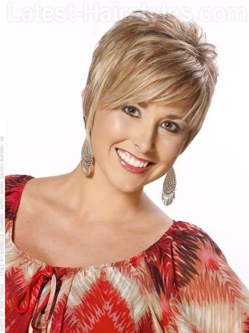 Short Blonde Pixie Wispy Short Hairstyle For Older Women