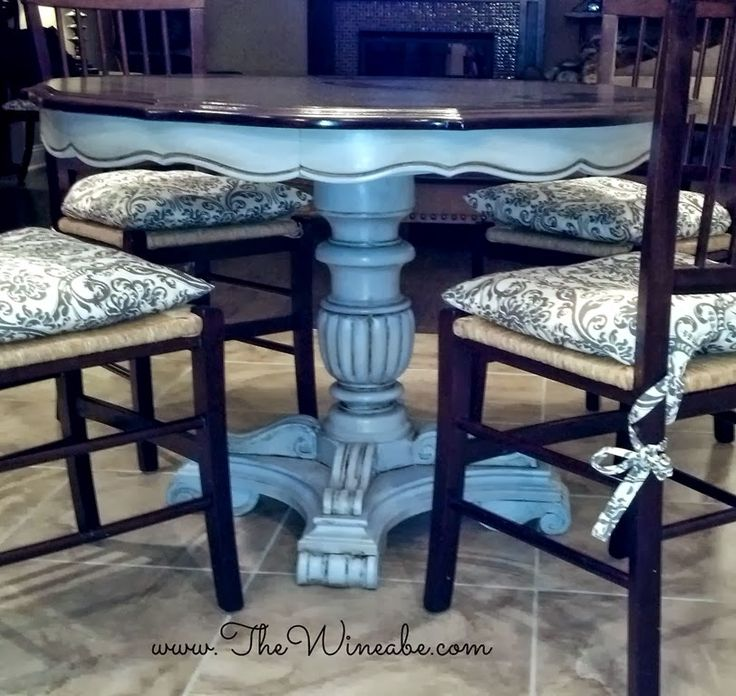 Paint Furniture Ideas 100 best dining tables & chairs - chalk paint ideas images on