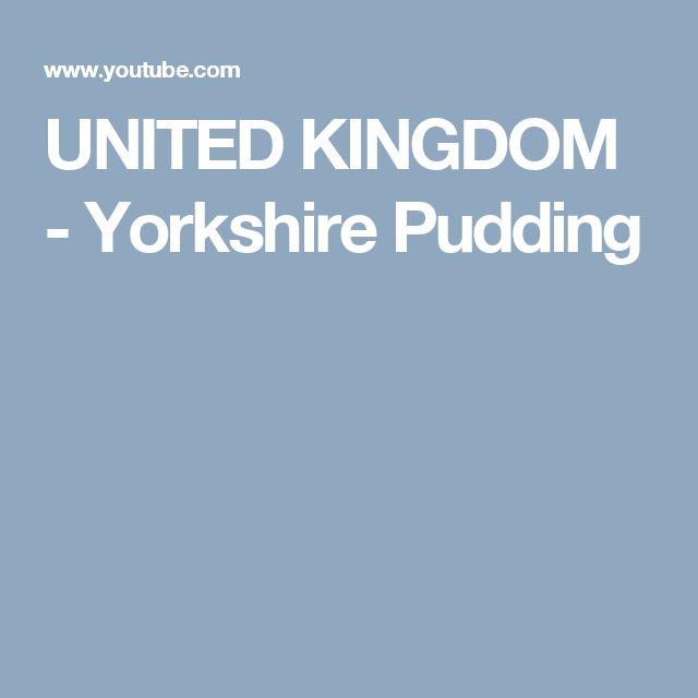 UNITED KINGDOM - Yorkshire Pudding