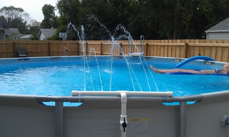 144 best beautiful above ground pools images on pinterest - Beautiful above ground pool ...