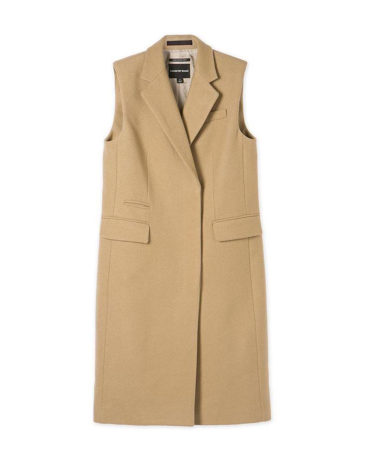 Longline Sleeveless Jacket