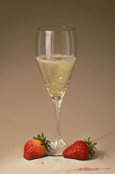 Javier Mulio. Strawberries & champagne