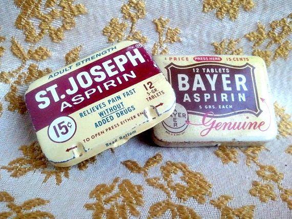 old aspirin tins, remember these ?