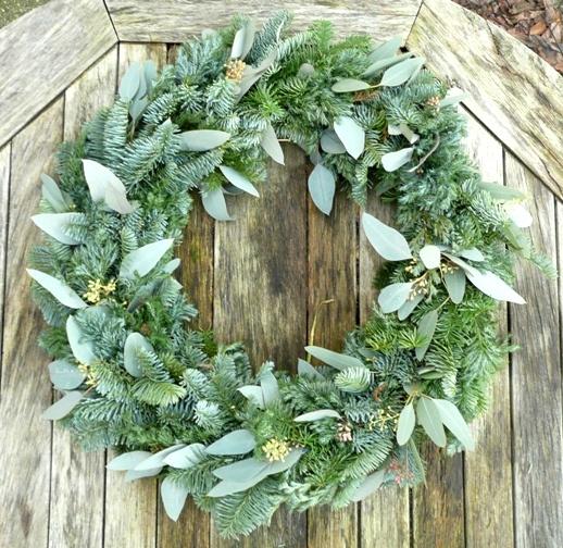 3 kerstkrans gemengd grijs