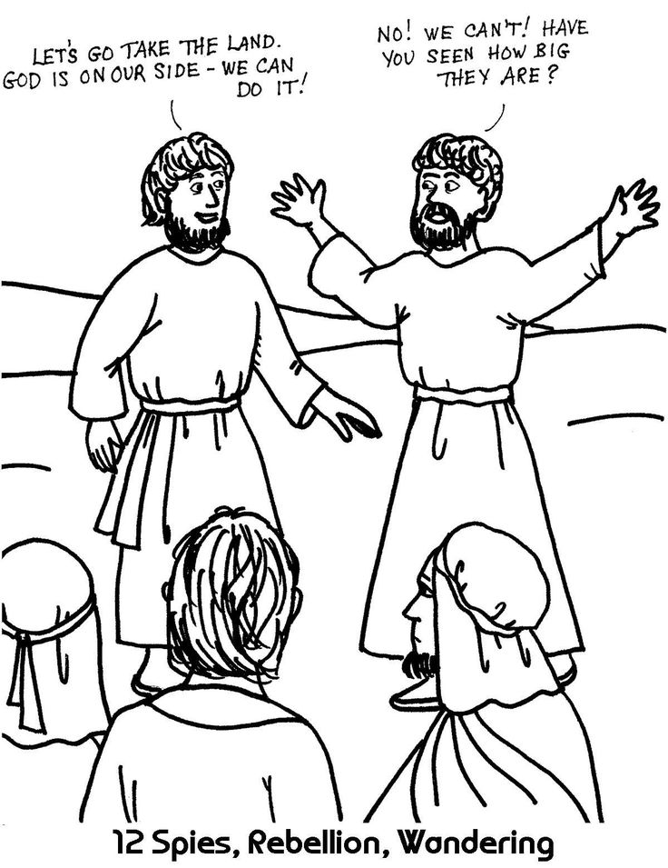 80 best twelve spies images on pinterest children church, for Moses and the Promised Land Coloring Page Moses and the 12 Spies The Twelve Spies