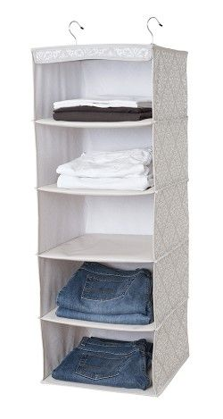 Sweater Cubby In Diamond Damask Item #: 0443 DD Enhance Your Vertical  Storage Space With These Five Handy Shelves! Just Hang From A Clothes Rod,  ...