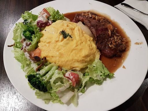 Beef steak omurice from Hoshino Coffee at Holland Village