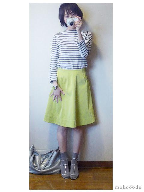 モコーデ: ZARAメタリックサンダルに靴下でをお嬢さんっぽいコーデ 4月10日