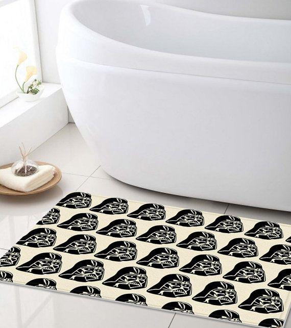 Bath Mat, Star Wars Bathroom mat, Shower Mat, customized bath mat, bathroom decor, kids bathroom, bathroom rug, darth vader bathroom mat