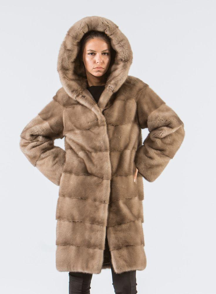 Pastel Mink Fur Jacket With Hood     #pastel #hooded #mink #fur #jacket #real #style #realfur #elegant #haute #luxury #chic #outfit #women #classy #online #store