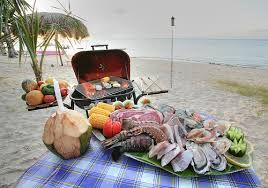Image result for bbq beach food