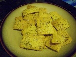 Flourless garbanzo bean crackers-- made with canned chickpeas, not the flour. Worth a shot.