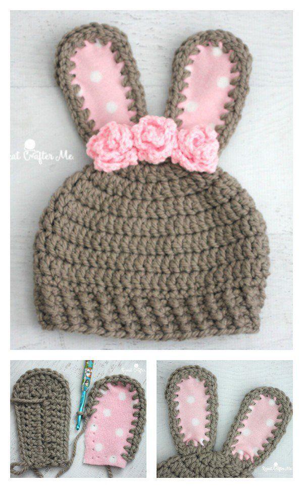9d4664c2e2f Crochet Chunky Bunny Hat Free Pattern  CrochetEaster