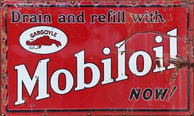 vintage advertising signs | Vintage advertising metal sign, Mobil Oil (Gargoyle)
