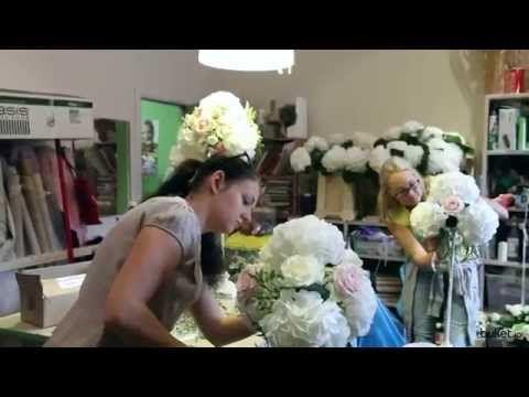 как украсить свадебную арку цветами мастер класс