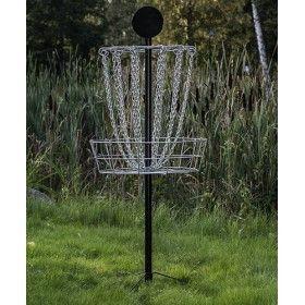Westside black accent portable disc golf basket/goal