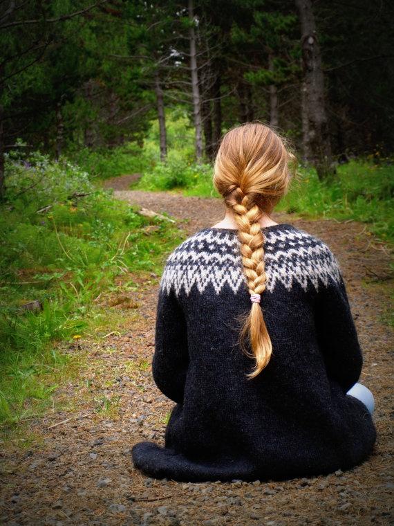 Icelandic Sweater Lopapeysa Handmade 100 pure Wool by aggaphoto, $200.00