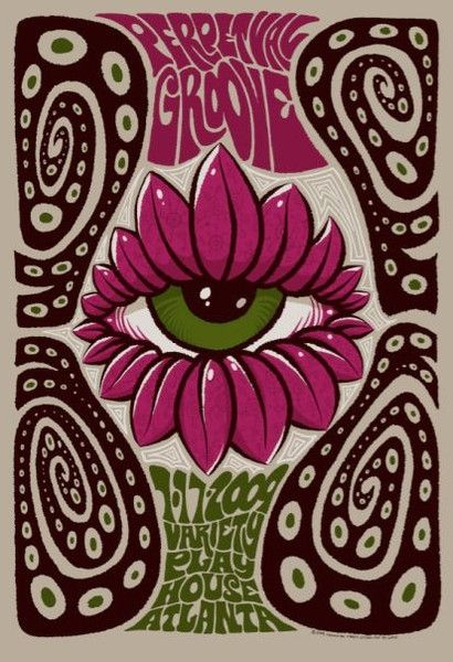 Purchase the 2009 Perpetual Groove Variety Playhouse Show Poster by artist Jeff Wood/Drowning Creek Studio from Zen Dragon Gallery