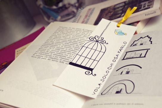 #cage  #bookmarks #handmade by Voila HandMade Pronti, Partenza… Via! | Voilà