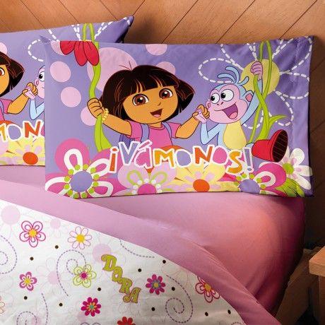 Juego de sábanas Dora Aventuras #Dora #Recamara #Cuarto #Decoracion #Colchas #Intima #Cobertor #Ideas #IntimaHogar