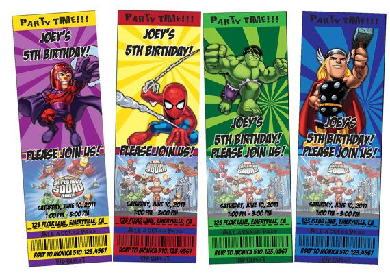 17 Best images about SuperHero Birthday Party – Superhero Birthday Invitations Free Printable