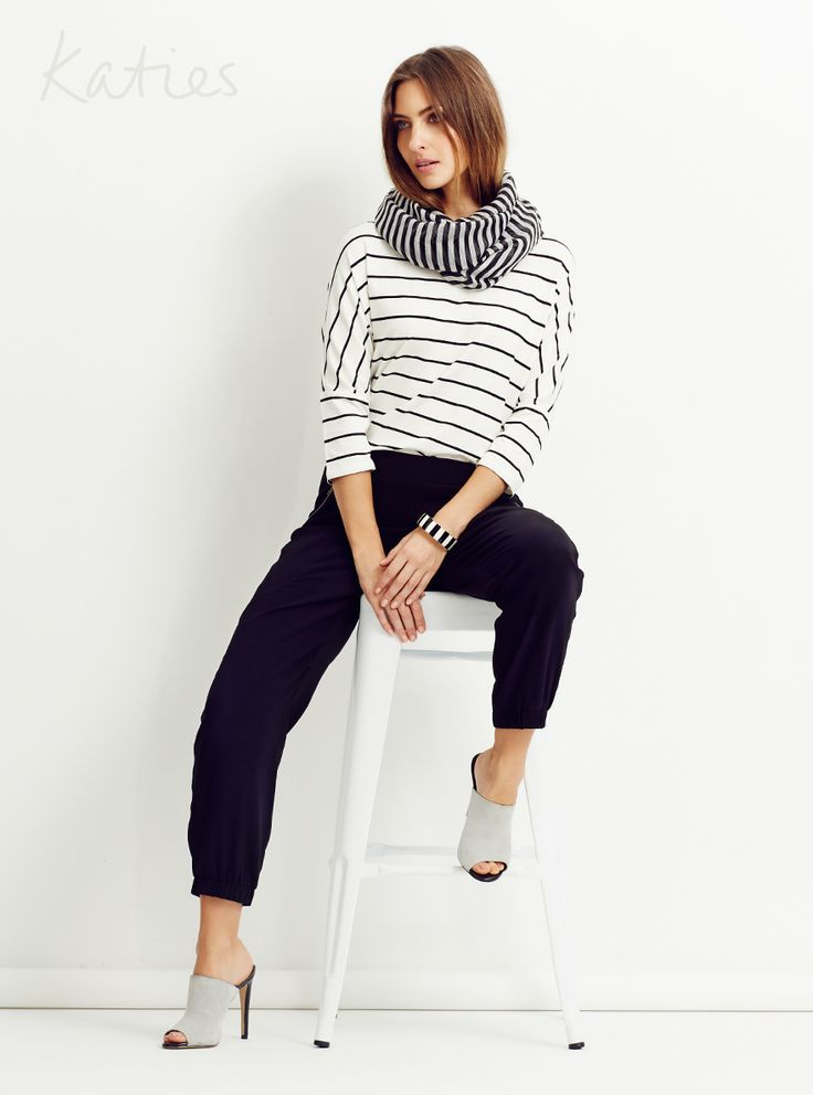 MIX AND MATCH / There's no wrong way to wear stripes, so go ahead and double up! Pair mis-matching stripes for a fresh and chic take on a classic trend.