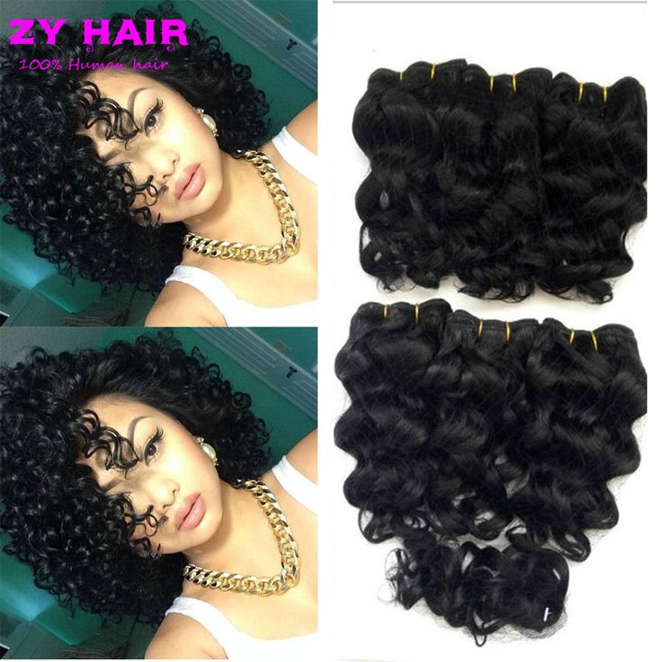 Summer Cheap Ladies Short Hair Weave Closures 8'' Deep Wave Malaysian Hair Deep Wave With Closure Short Deep Curly With Clousure